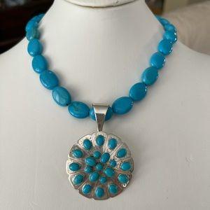 Jay King DTR sleeping beauty turquoise 925 pendant